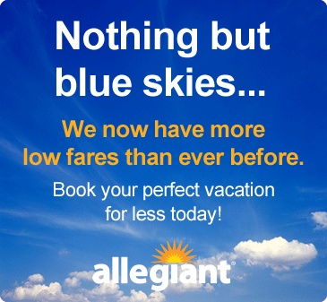 Allegiant Air   (Flights from Sanford(Orlando), Fla.) Great prices. Newly discovered by me.