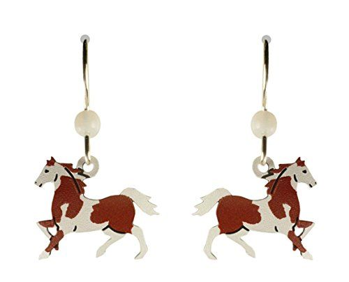 Sienna Sky Brown White Pinto Horse Earrings 13631 >>> Details can be found by clicking on the image. Note: It's an affiliate link to Amazon.
