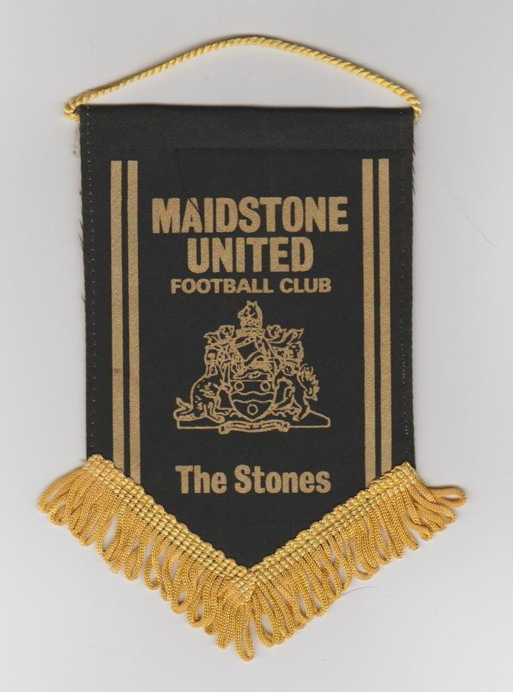 MAIDSTONE UNITED FC ORIG SMALL 1980'S PENNANT VERY GOOD CONDITION