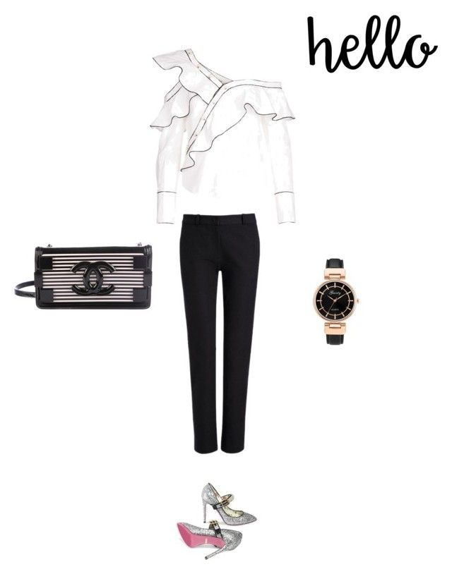 """Hello"" by francystyling78 on Polyvore featuring moda, self-portrait, Joseph, Gucci e Chanel"