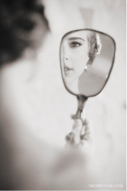 Face in the mirror.