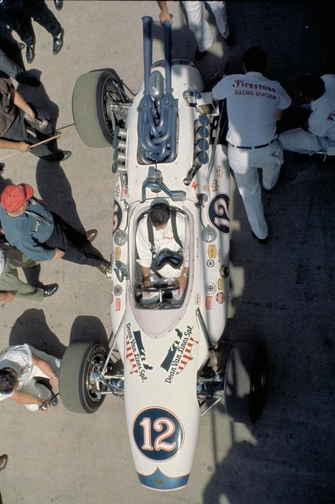 Mario Andretti's car at Indianapolis in 1965