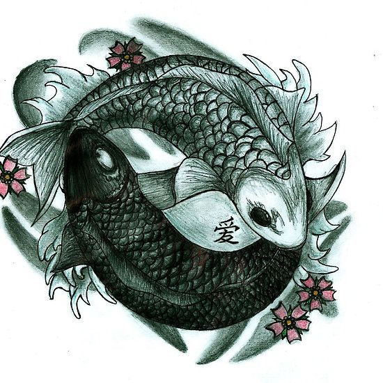 Koi fish yin and yang avatar or this one tattoos for Koi fish yin yang tattoo