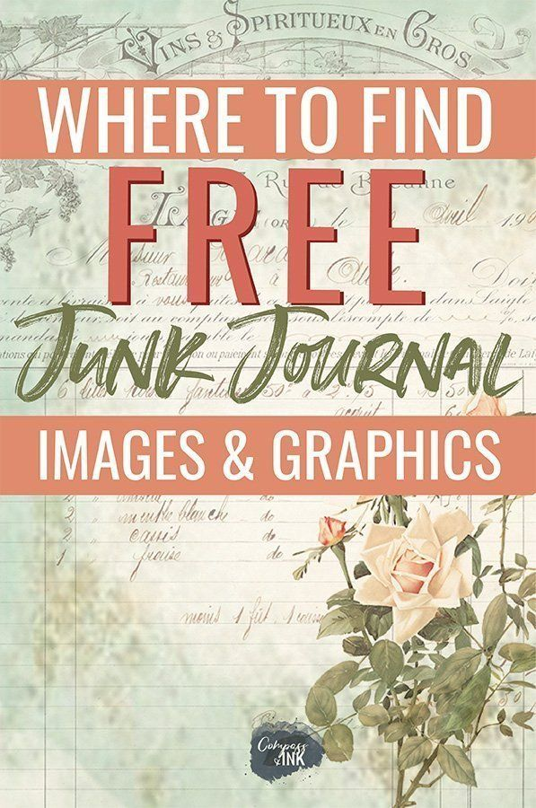 DIY Craft: Where to find free junk journal images and graphics - whether you're looking to find some free junk journal printable kits for your next journal, or you're just looking for some vintage ephemera to help you finish your latest junk journal idea, this post is full of free resources! <a class=