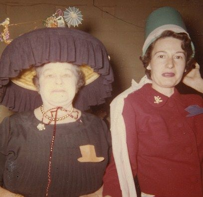 Try as she might, Minnie just would never keep pace with Inez's fashion forward chapeaus.