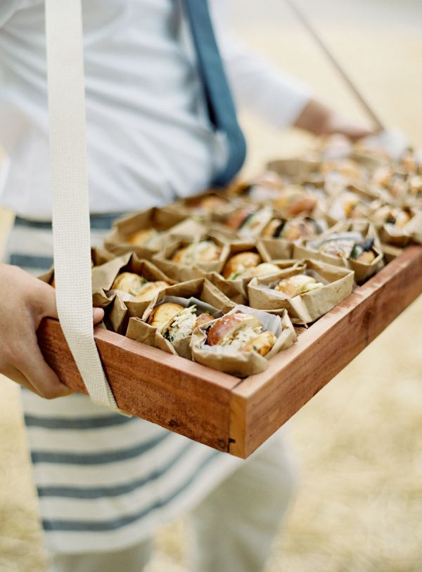 Sliders: http://www.stylemepretty.com/2015/08/20/20-cocktail-hour-appetizers-your-guests-will-devour/