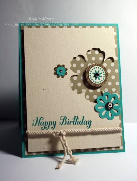 Stampin Up - Mixed Bunch: Love the punch out design of this card