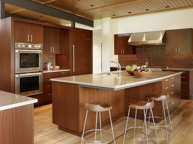 Brown furniture themes images of kitchen islands for small spaces with wooden cabinet and storage and tile floor with stools metal legs with sleek tabletop