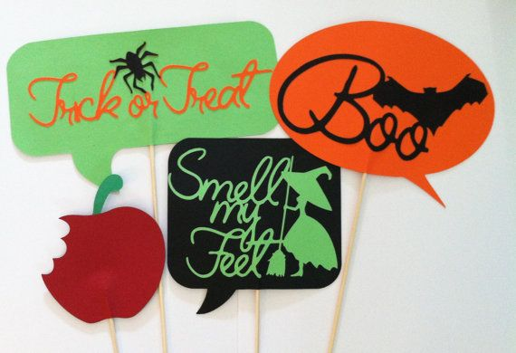 4 Halloween photo props photo booth props poison by ScrapStarz, $20.00