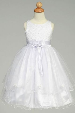Sweet Double Layer Organza Skirt for Romantic Flower Girl Dress