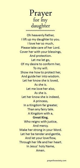 """Prayer for Sylvia"" ....found this under prayers for Sylvia...only appropriate that I should pin for my daughter too!"