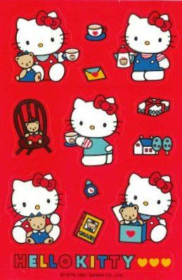 Hello Kitty stickers from Japan in the 1990's