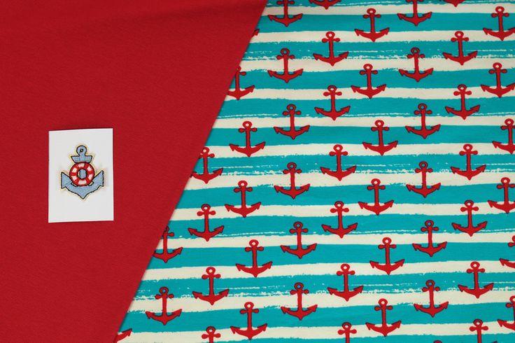 Stoffpakete - 503 Stoffpaket Jersey  Retro  1,25m + Applikation - ein Designerstück von my-kati bei DaWanda