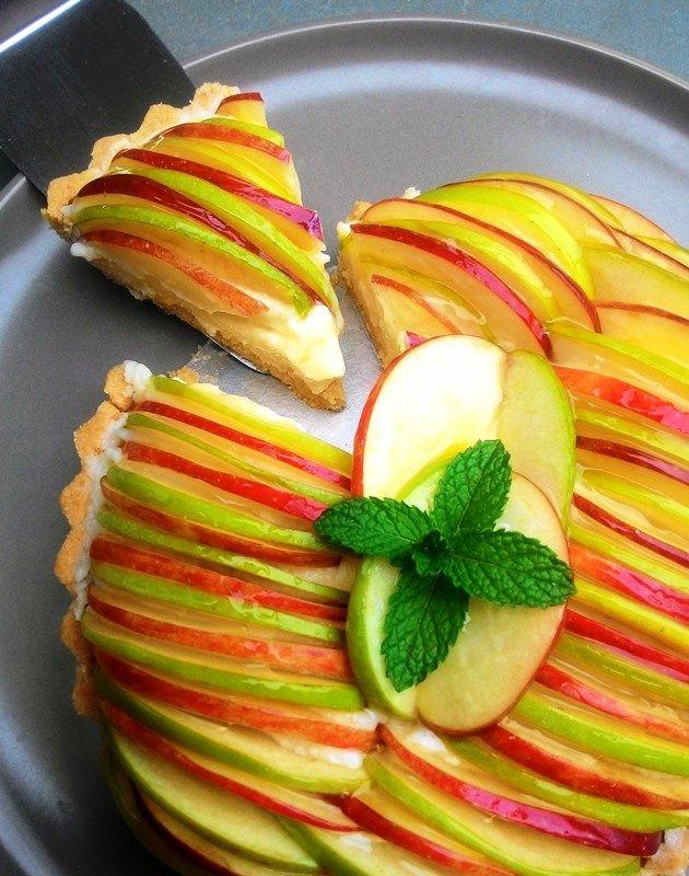 Torta de maçãs com creme