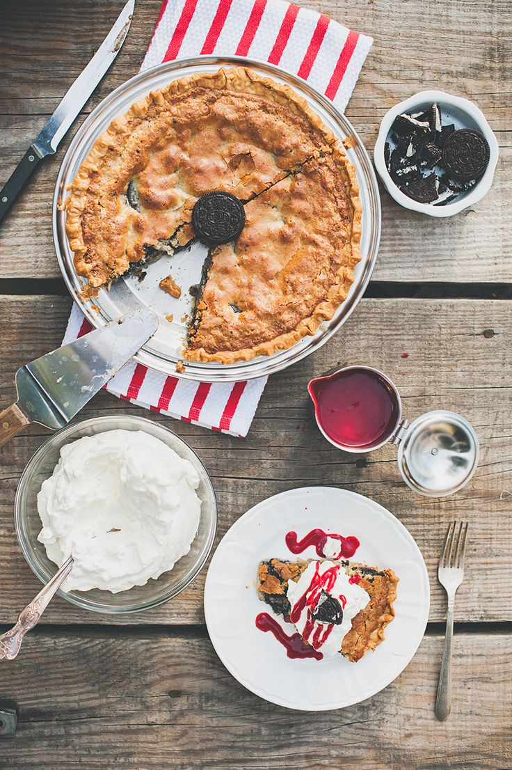 This decadent OREO Buttermilk Pie is the perfect dessert to make for the fall.