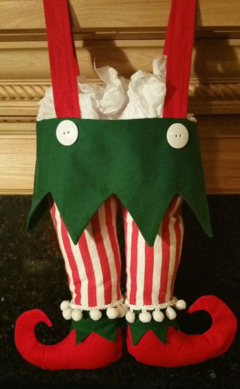 Free!!!!!!!!!!!  Elf Pants Christmas Stockings Pattern and Tutorial!