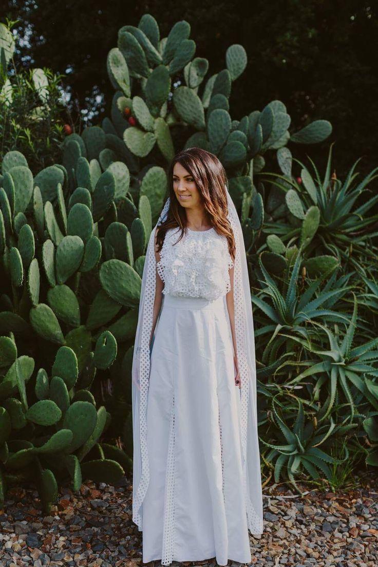 Ashley is wearing 'feels like courage' dress #nevenka #madeinmelbourne #bride #wedding
