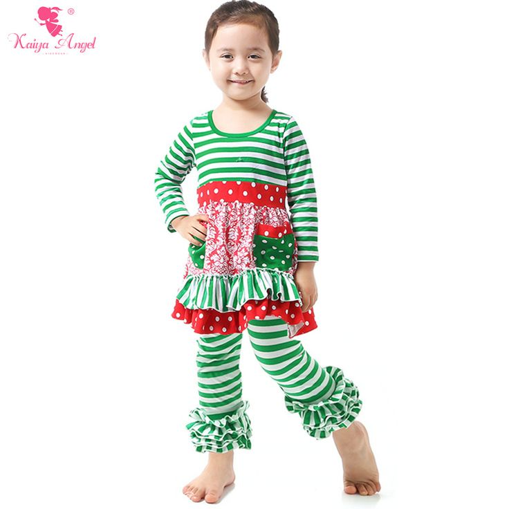 Find More Clothing Sets Information about 1 Pcs Christmas Outfit Dress Ruffle Leggings Suit Girls Clothing Sets 2016 Children Clothing Girls Kids Clothes Green Stipe Dot,High Quality girls clothing sets,China girls clothing sets 2016 Suppliers, Cheap christmas outfit from kaiya angel clothing factory on Aliexpress.com