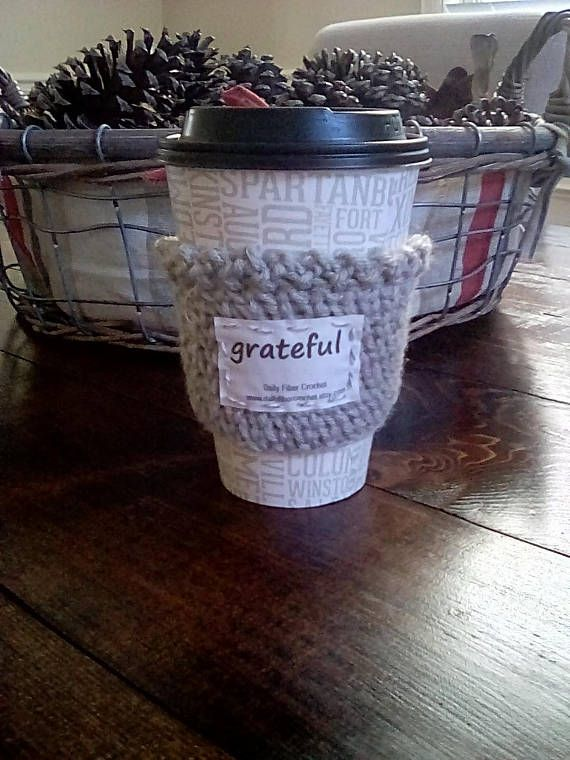 Inspirational Cup Cozy GRATEFUL