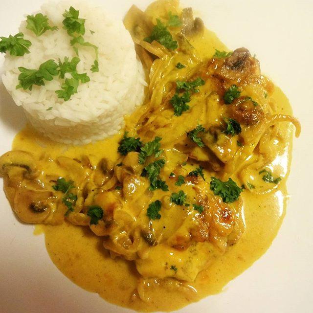 Edel's Mat & Vin : Ovnsbakte koteletter med sopp og løk i ravigottesaus ♪♪