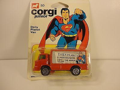 Found Post: Corgi Junior 50 SUPERMAN Die Cast Truck, Daily Planet Van 1978 | FyndIt