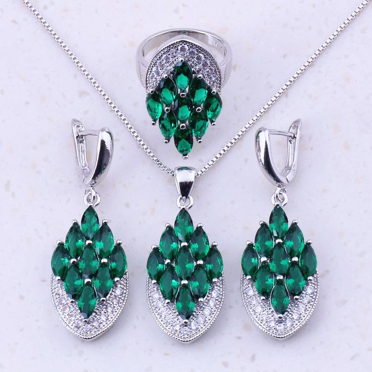 Emerald Jewelry Sets for Women