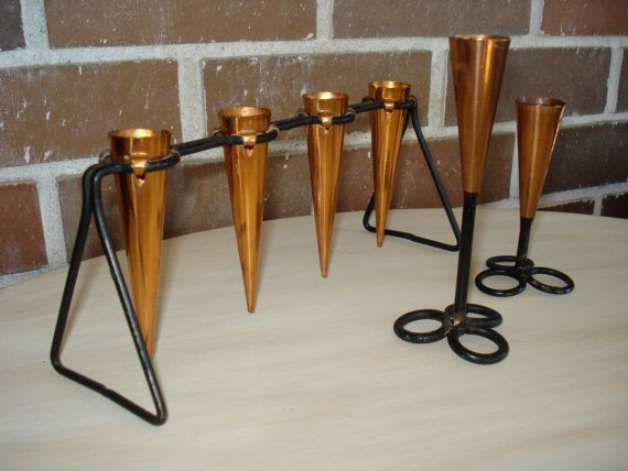 Ystad Metall Metal and Copper Candle Holder Set by ChateauNouveau, $35.00