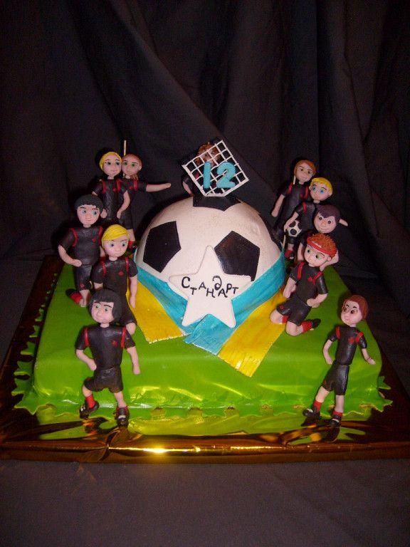 Футбольная команда #торт_на_заказ_михайловка #спортивные #слоеный_торт