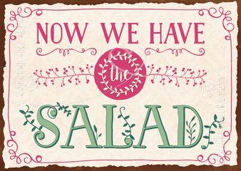 Now we have the salad - Postkarten - Grafik Werkstatt Bielefeld