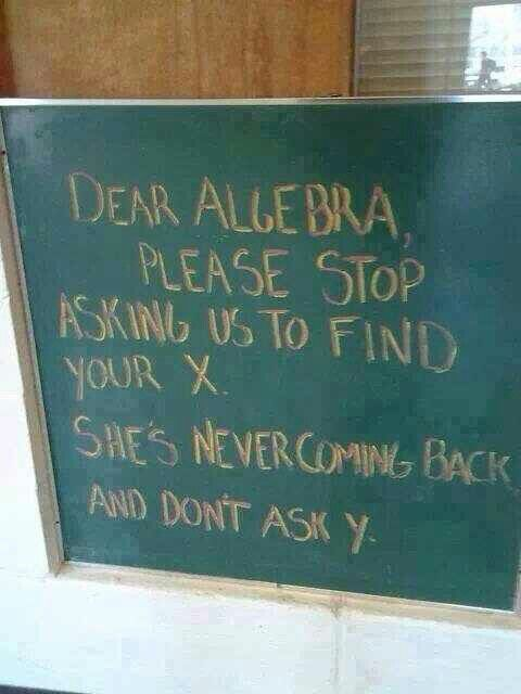 My math teacher has this posted on his bulletin board! :)