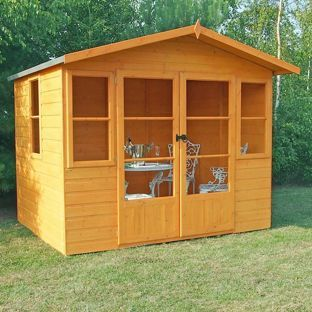 Buy Homewood Milton Wooden Summerhouse - 8 x 8ft at Argos.co.uk - Your Online Shop for Summer houses and beach huts.