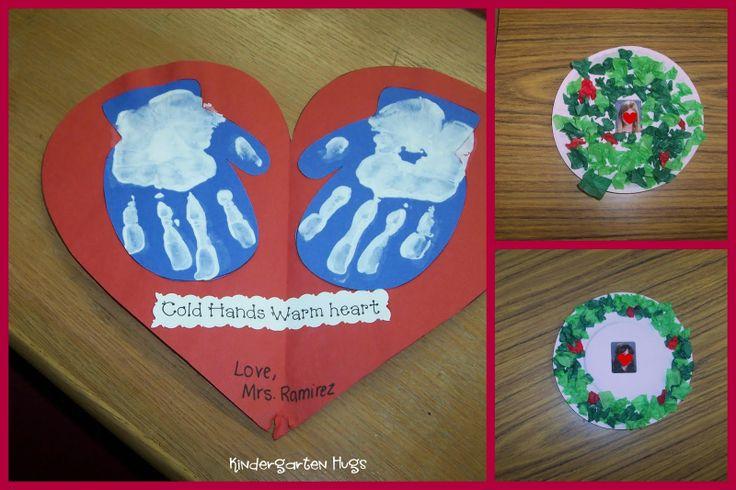 Cold hands warm heart handprint craft preschool for Christmas crafts for kindergarten class