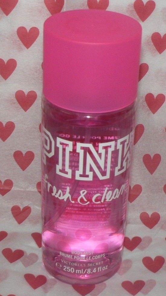 New! Victorias Secret PINK FRESH & CLEAN PERFUME SPRAY MIST BIG Bottle Sexy  #VictoriasSecret