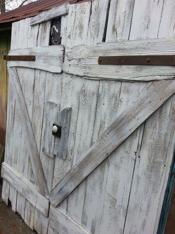 A One Of Kind Scratch Built Queen Size Barn Door Headboard For Client In New Orleans Reclaimed Siding Hardware And Ceiling Tin