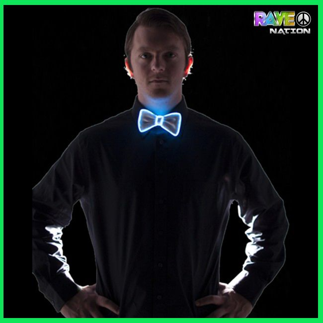 Better jump on this one El wire bow tie with adjustable length to look sexy and make your rave memorable. Shop Now: www.rave-nation.com