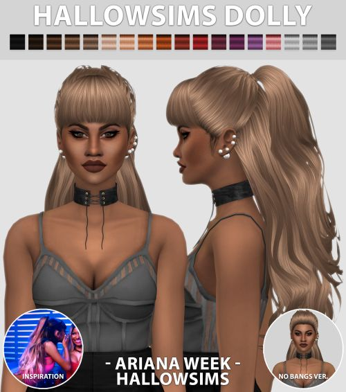Sims 4 CC's - The Best: Hair by HallowSims