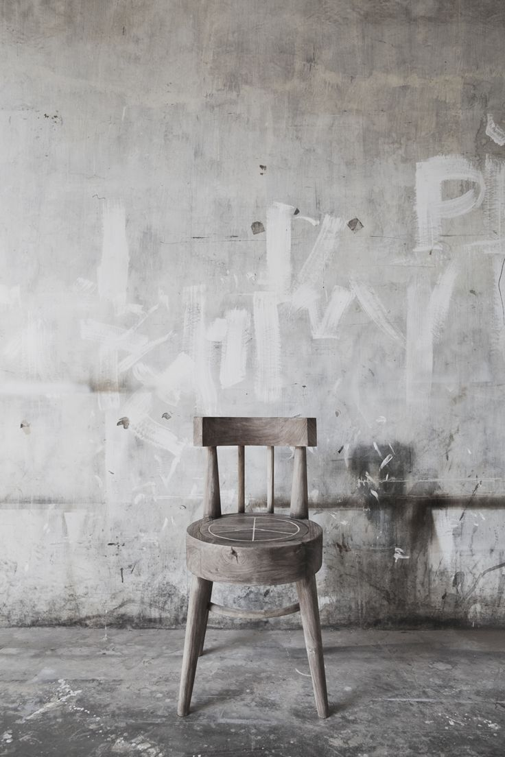 Black and white chair photography - M Chant Design Concrete Project
