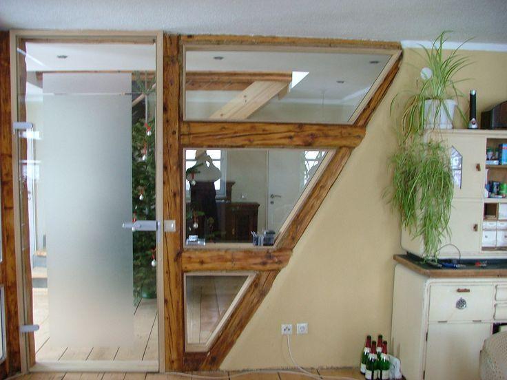Verglaste Fachwerklösung 02689 Sohland a.d. Spree, Gestaltungsideen> Wand, ©LehmHandWerk Udo Mühle