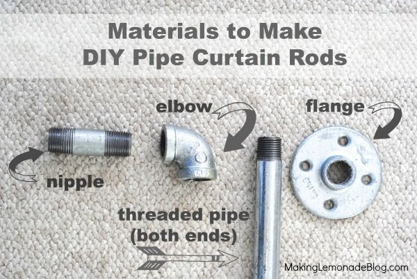 Finding Style in the Plumbing Aisle! {Industrial Pipe Curtain Rods} :: Hometalk