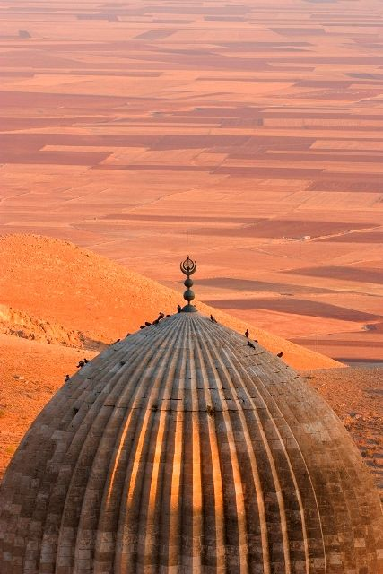 Grand Mosque, Mardin, Turkey (fertile fields of Mesopotamia in the background)
