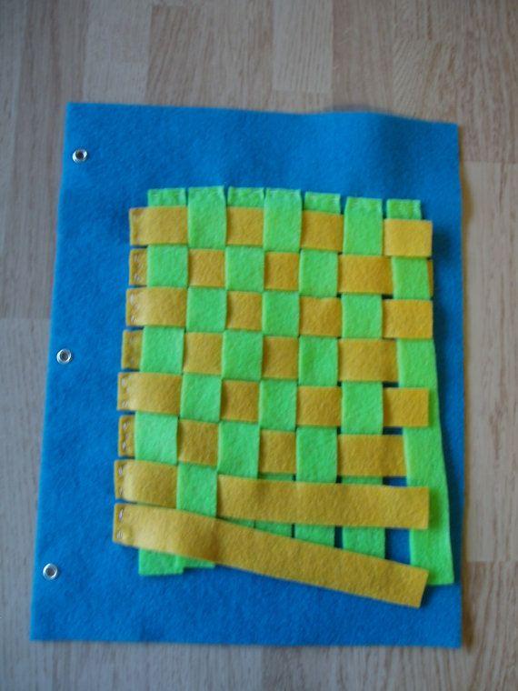 Quiet book page - weaving