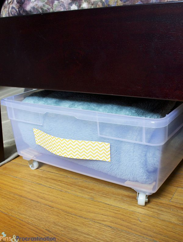 Under Bed Storage: DIY Plastic Underbed Drawers a dresser alternative for a small room