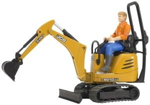 Bruder Jcb Micro Excavator 8010 Cts and Construction Worker (Colors May Vary) It is so well made and so attractive that the grown ups like having it. The micro excavator's equipment is true to detail, including the fully functional excavator arm http://bit.ly/1ECAVOd