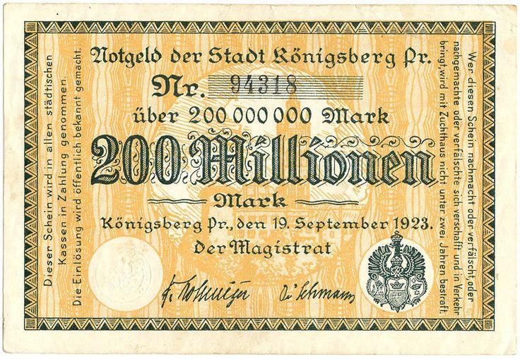 Königsberg - Stadt - 200 Millionen Mark 1923