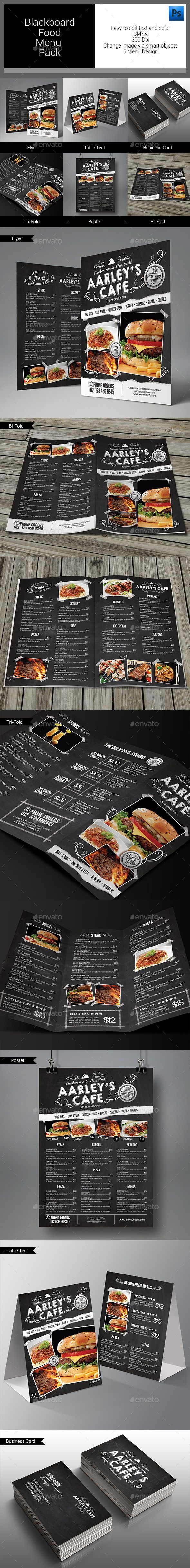 Blackboard Food Menu Bundle Template #design Download: http://graphicriver.net/item/blackboard-food-menu-bundle/11020267?ref=ksioks