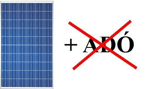 Adómentes napenergia