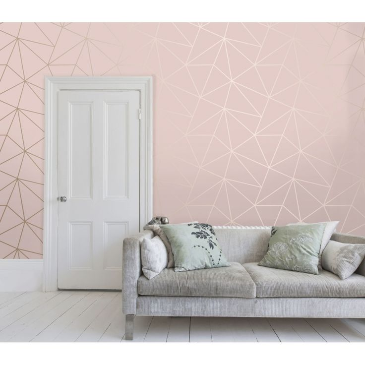 Zara Shimmer Metallic Wallpaper Soft Pink Rose Gold Girl