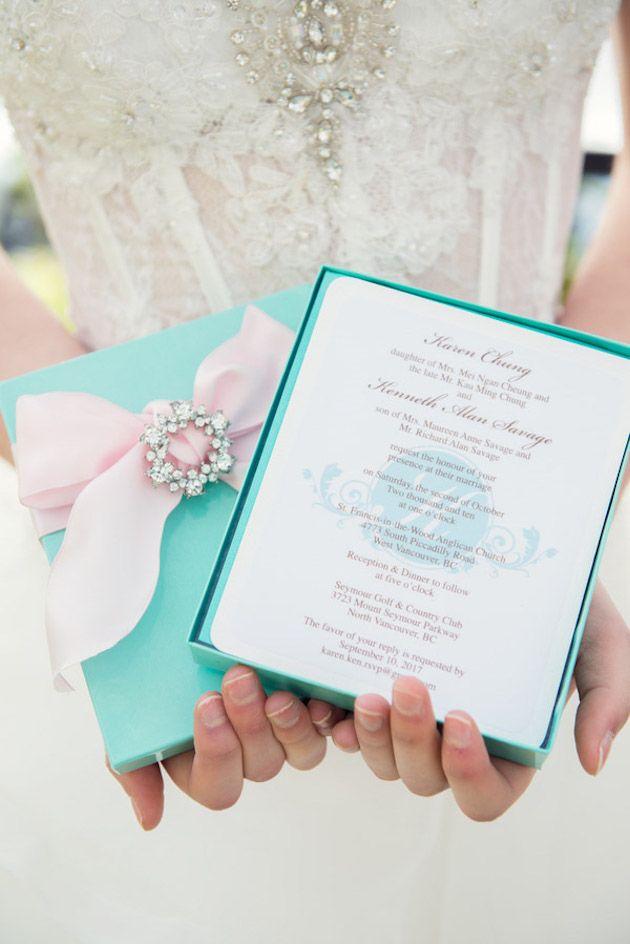 cinderellthemed wedding scroll invitations%0A Cherry Blossom   Tiffany Blue Styled Shoot   Woodsy Weddings