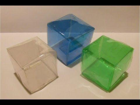 Cómo convertir una botella de plástico en un cubo | Ecología. Més idees a:  http://veroicono.blogspot.com.es/