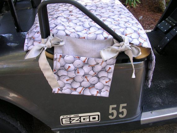 Golf Cart Seat Cover by MarykatesCustomDesig on Etsy